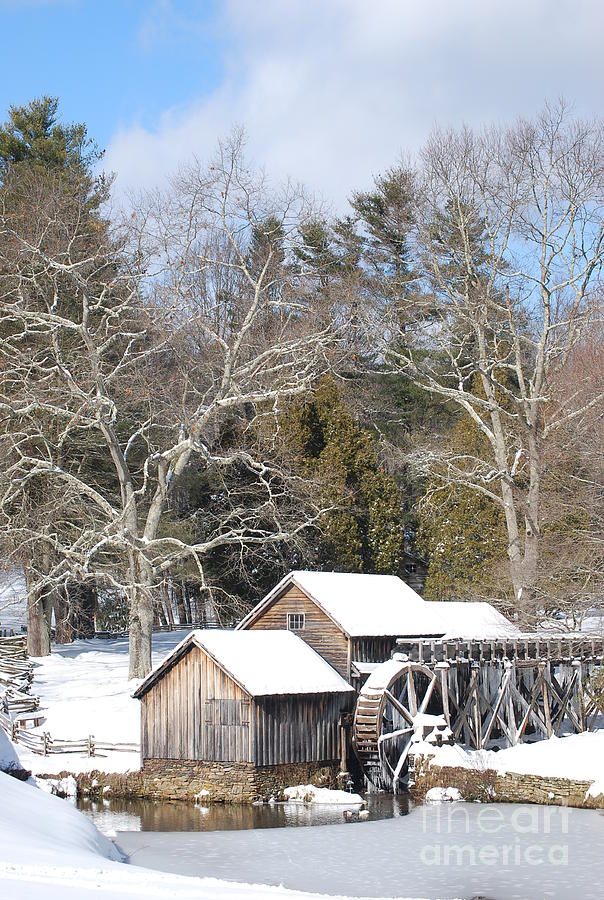 Snow Photograph - Snow On The Mill 2 by Eric Liller