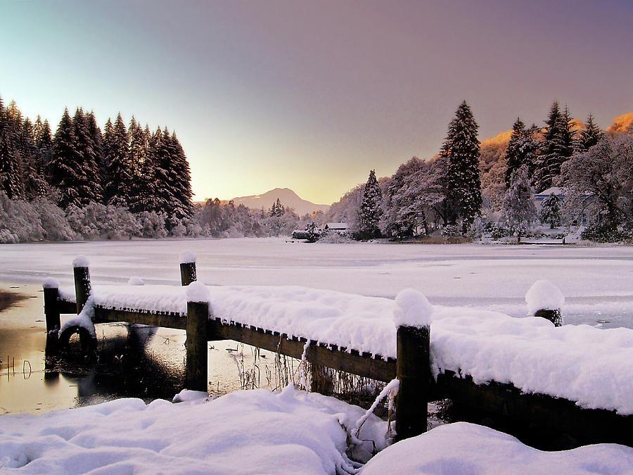 Loch Ard Photograph - Snow Over Loch Ard by Amanda Finan
