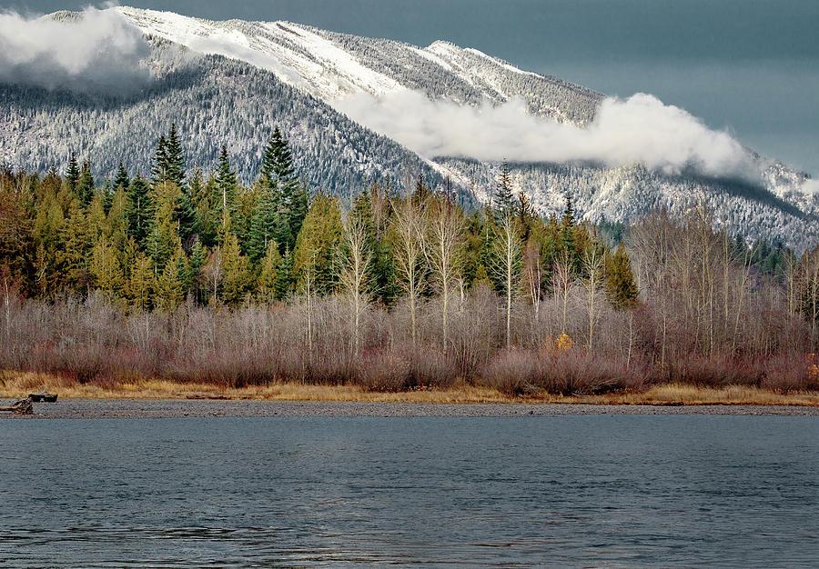 Snow over the Clark Fork by Albert Seger