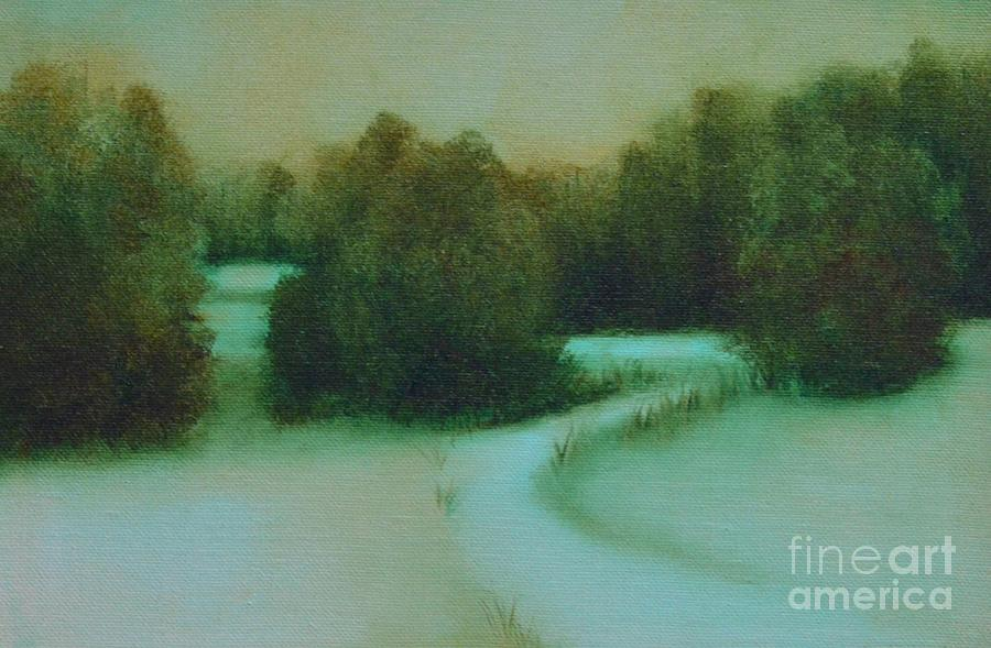 Winter Painting - Snow Path by Jana Baker