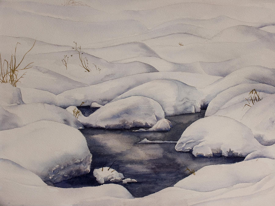Snow Painting - Snow Pool by Debbie Homewood