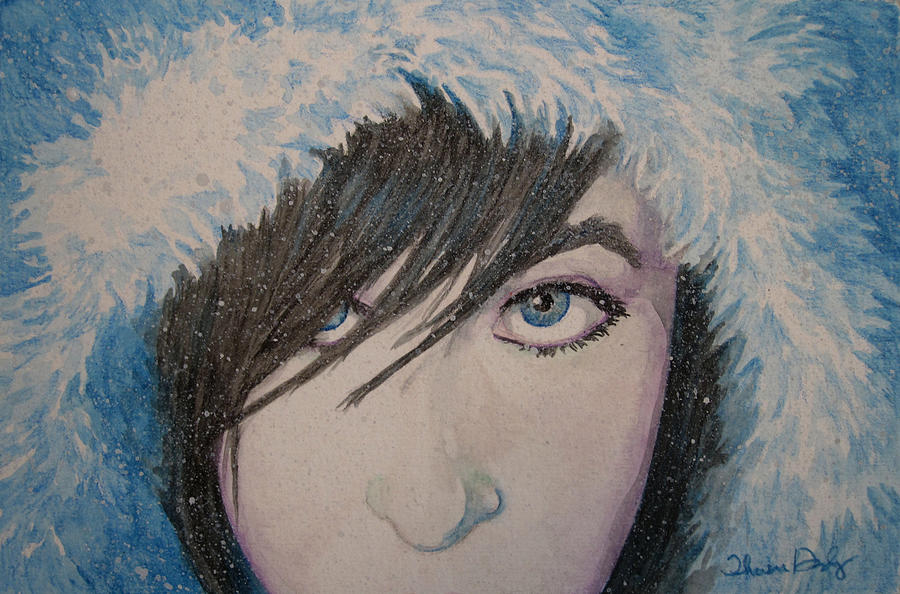 Girl Painting - Snow Princess by Theresa Higby