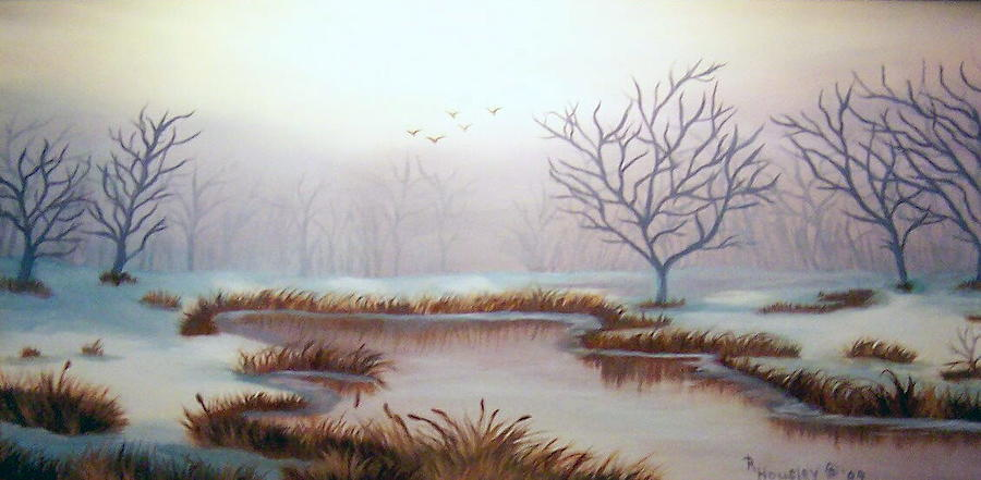 Landscape Painting - Snow Scene by Ruth  Housley