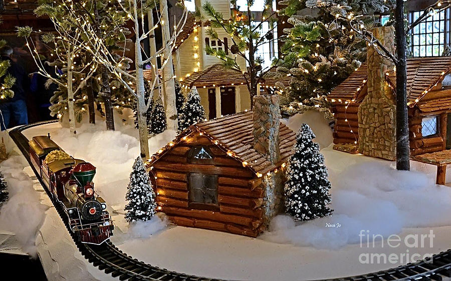 Snow Photograph - Snow Scene With Train by Nava Thompson