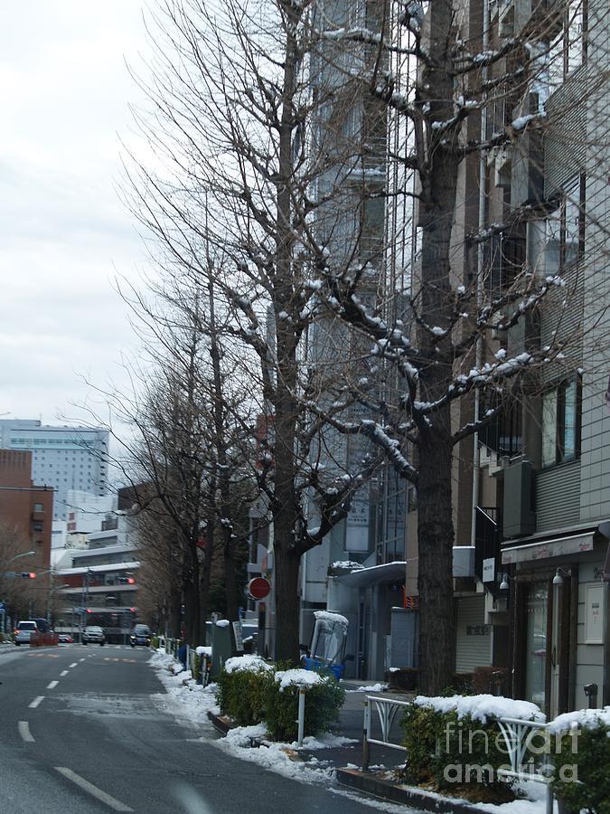 Snow Photograph - Snow Shibuya Tokyo Japan by Lee Tinglu