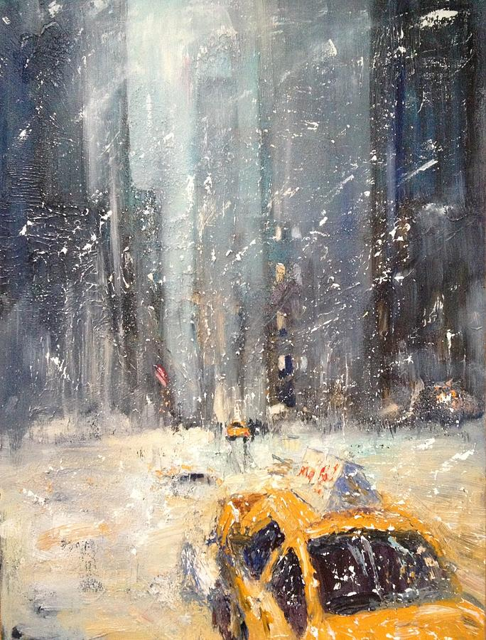 All Painting - Snow Snow Snow... by NatikArt Creations