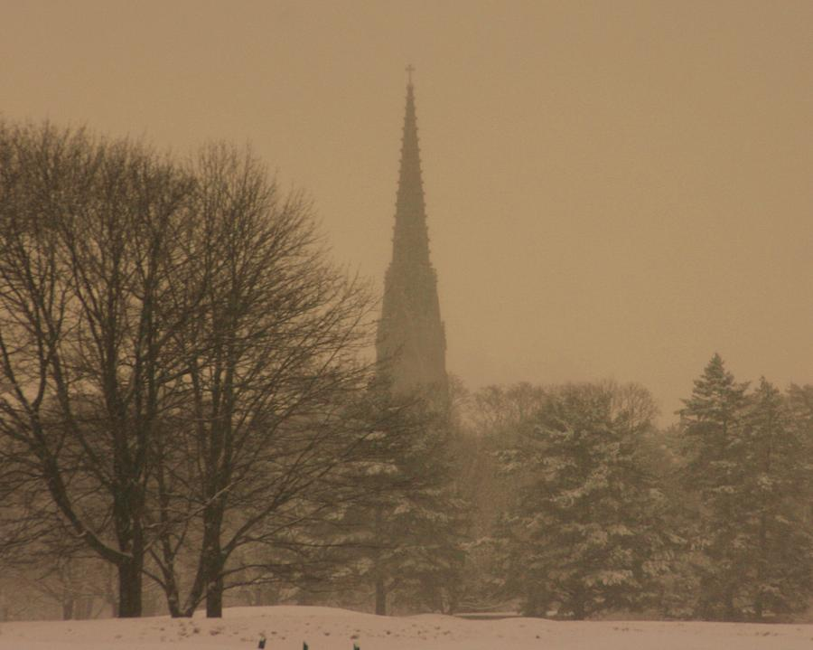 Winter Storm Photograph - Snow Storm by Dennis Curry