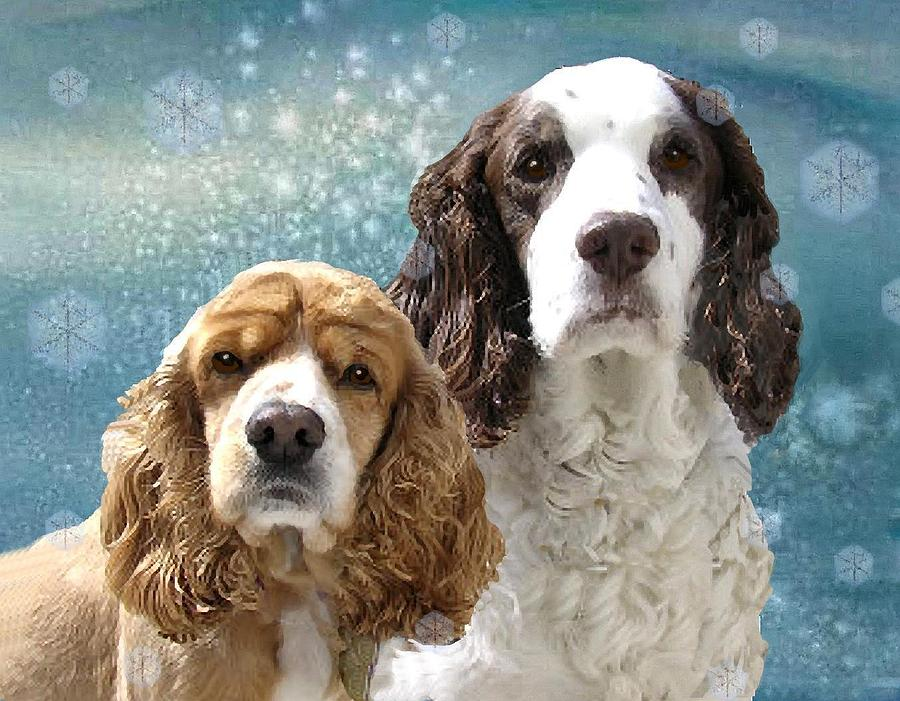 Dogs Painting - Snow by Sue Alandar