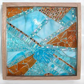 Mosaic Wall Hanging Mixed Media - Snow Taffy by Wendy Nelson