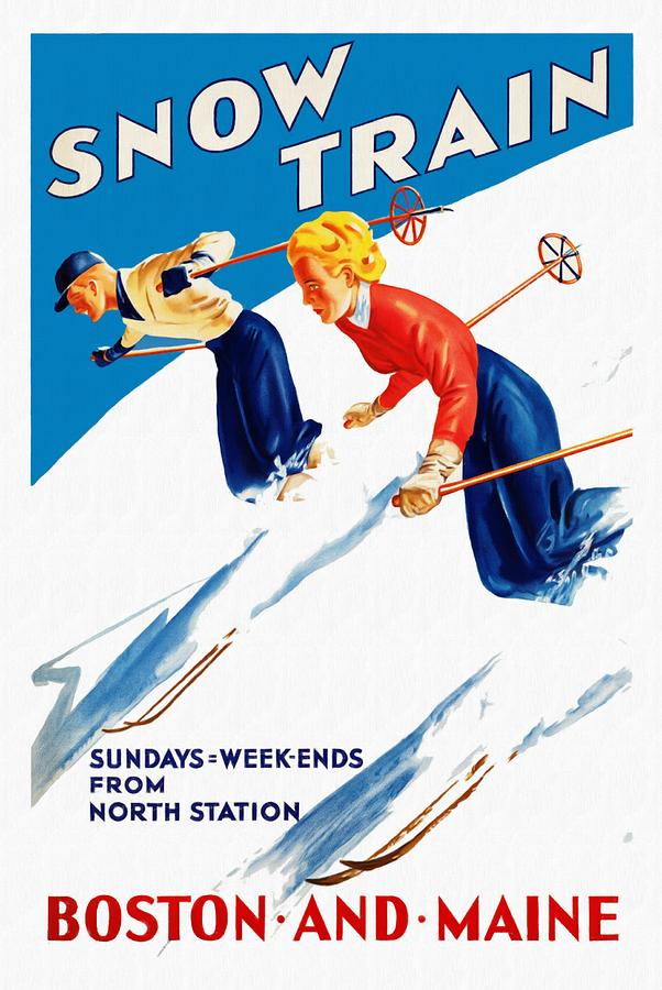 Snow Train - Restored by Vintage Advertising Posters