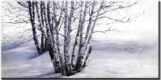 Landscape Painting - Snow Tree by Yvonne Yu