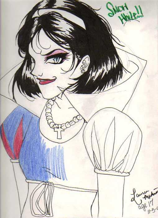 Snow White Drawing - Snow White by Lauren Mad