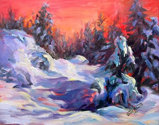 Snow Wrapped Painting by Geri Acosta