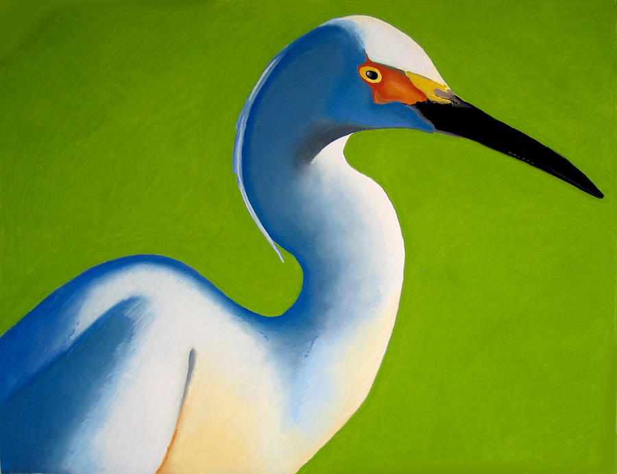 Birds Painting - Snowbird by Brenda Wolf
