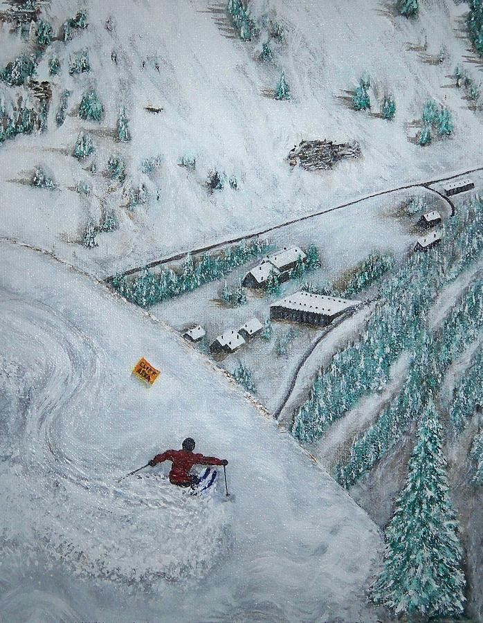 Ski Painting - Snowbird Steeps by Michael Cuozzo