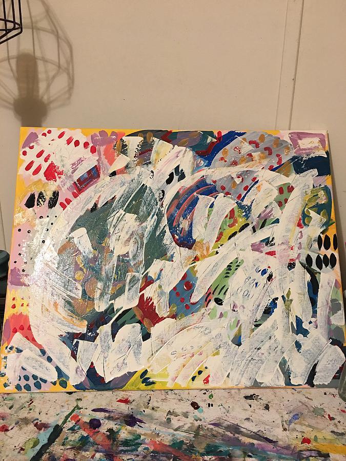 White Painting - Snowbird by Tonya Pearce