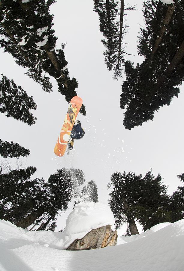Vertical Photograph - Snowboarding At Gulmarg Resort by Christian Aslund