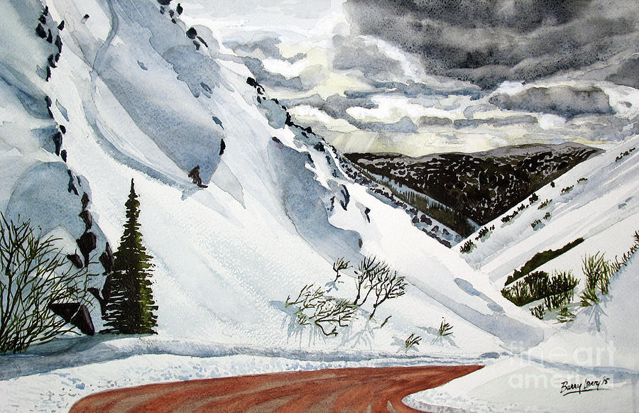 Snowboarding Painting - Snowboarding by Barry Levy