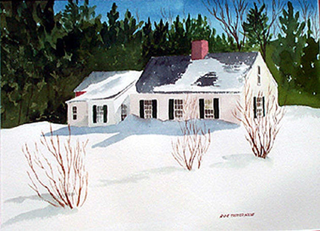Landscape Painting - Snowbound by Anne Trotter Hodge