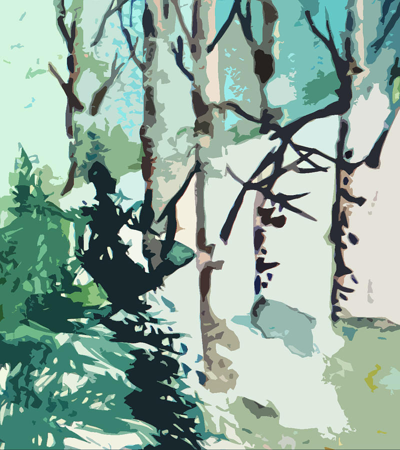 Pine Trees Painting - Snowbound by Mindy Newman