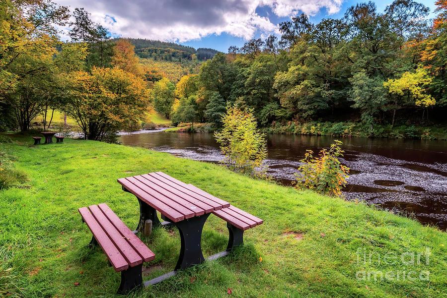 Autumnal Photograph - Snowdonia River Autumn by Adrian Evans