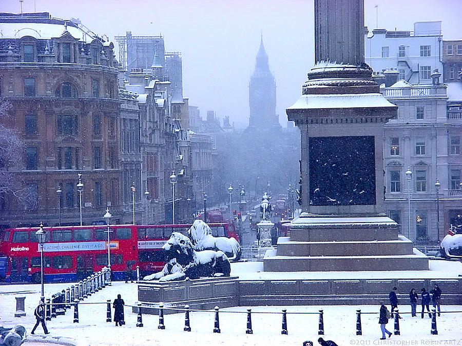 Winter Photograph - Snowfall Invades London by Christopher Robin