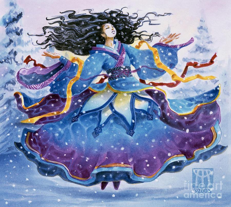 Snow Painting - Snowfall by Melissa A Benson