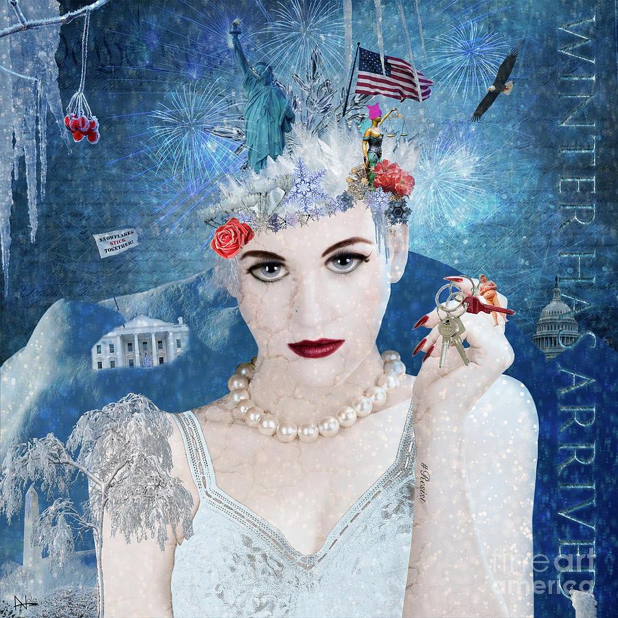 Snowflake Digital Art - Snowflake by Nola Lee Kelsey