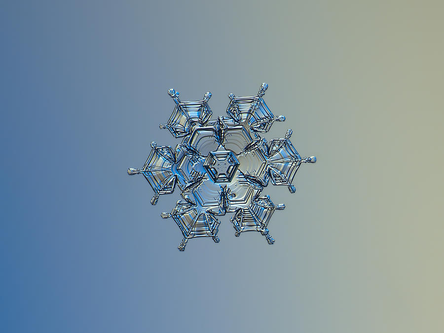 Snowflake Photograph - Snowflake Photo - Flying Castle Alternate by Alexey Kljatov