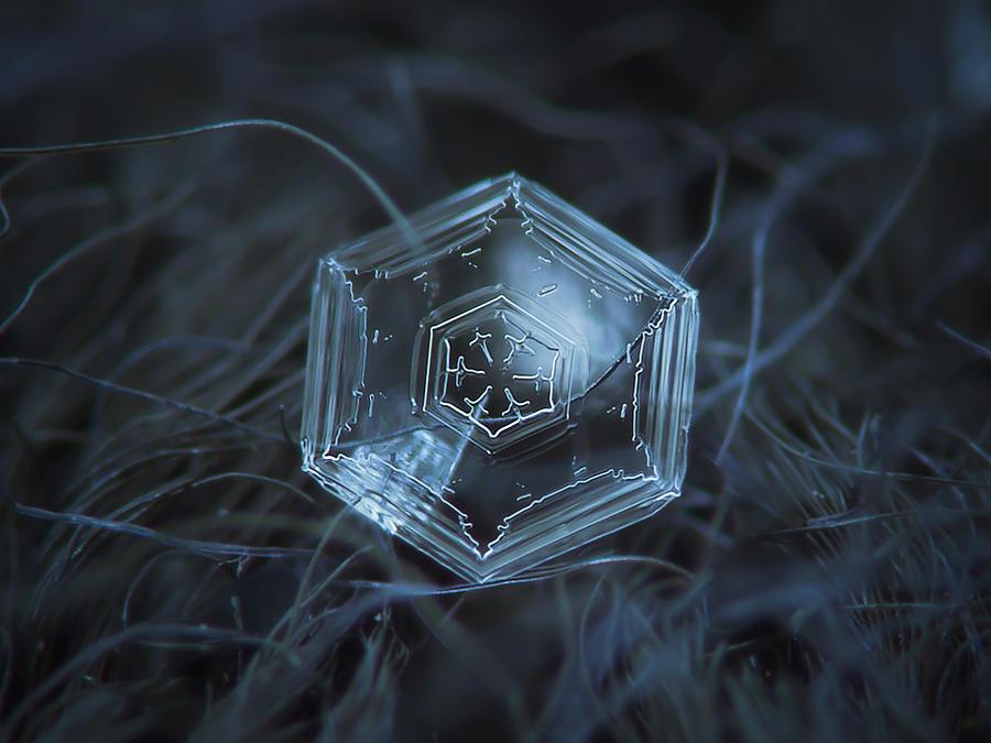 Snowflake Photograph - Snowflake Photo - Hex Appeal by Alexey Kljatov