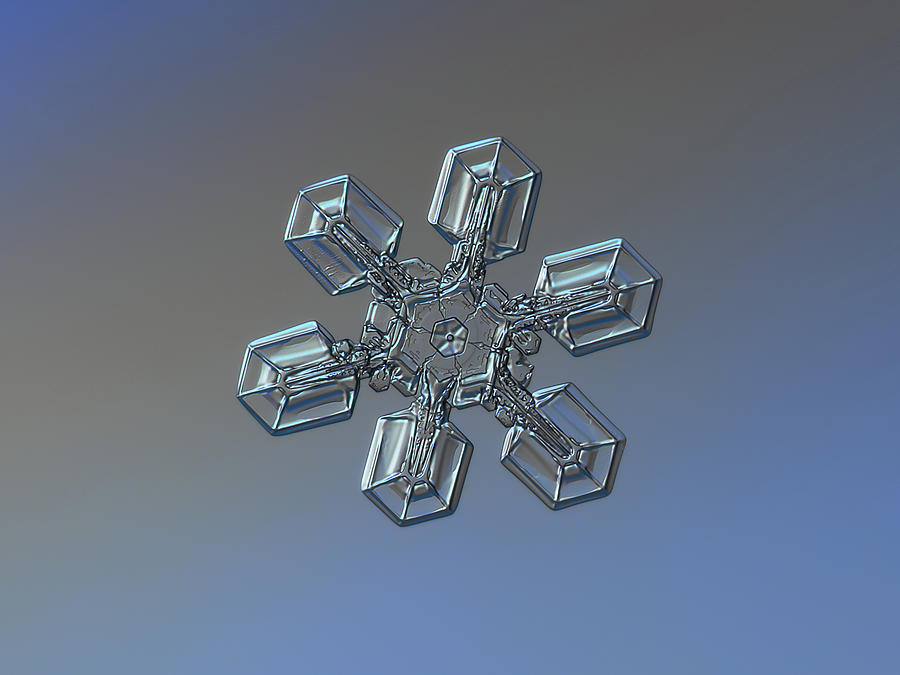 Snowflake Photograph - Snowflake Photo - High Voltage by Alexey Kljatov