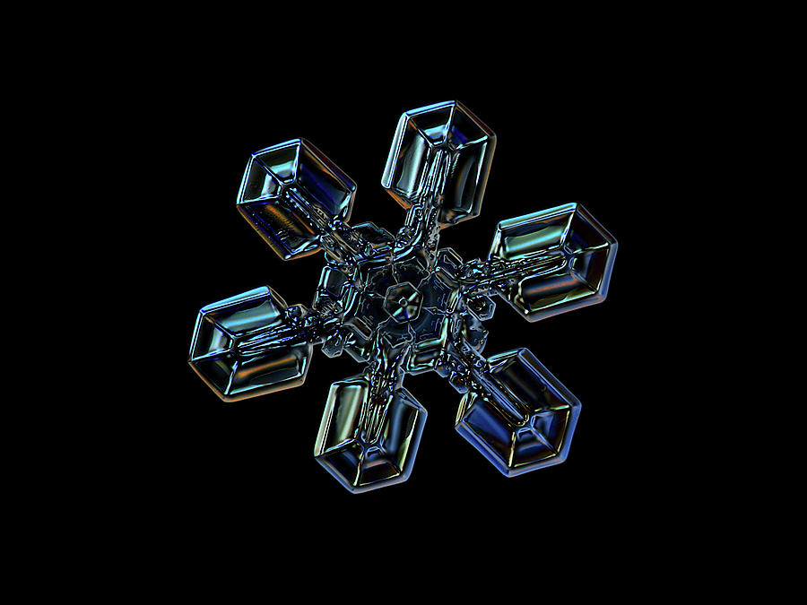Snowflake Photograph - Snowflake Photo - High Voltage IIi by Alexey Kljatov