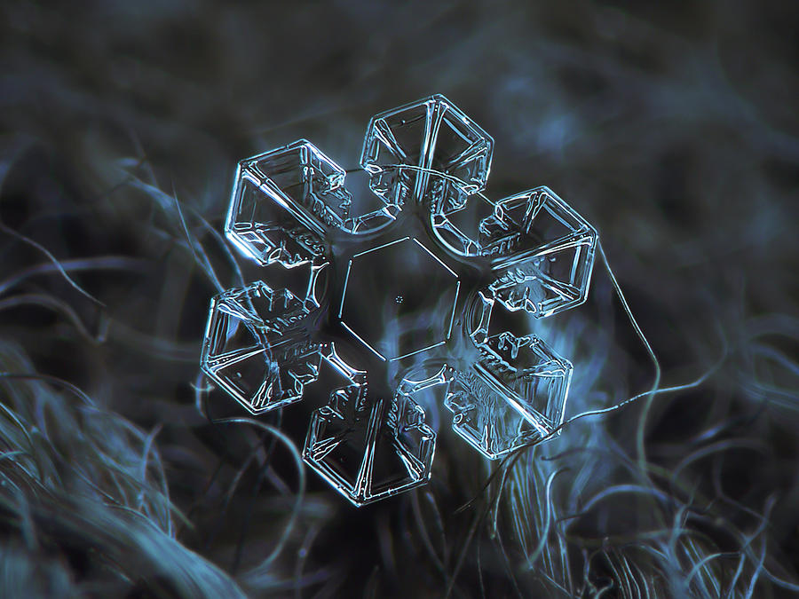 Snowflake Photograph - Snowflake Photo - The Core by Alexey Kljatov