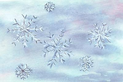 Snowflake Painting - Snowflakes by Donna Ryant