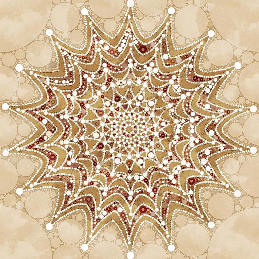 Snowflakes Mandala Design Mixed Media