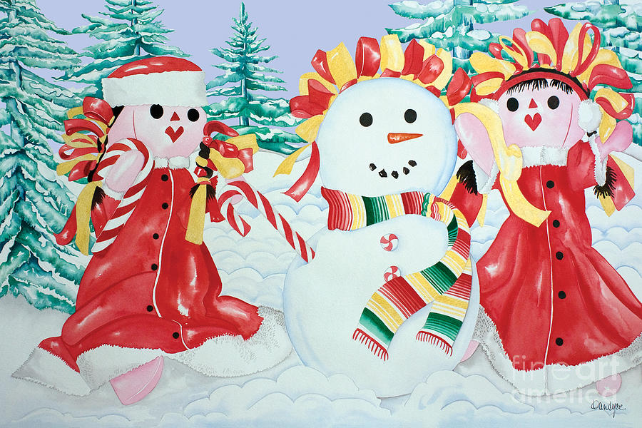 Snowgirls with Serape Scarf by Kandyce Waltensperger
