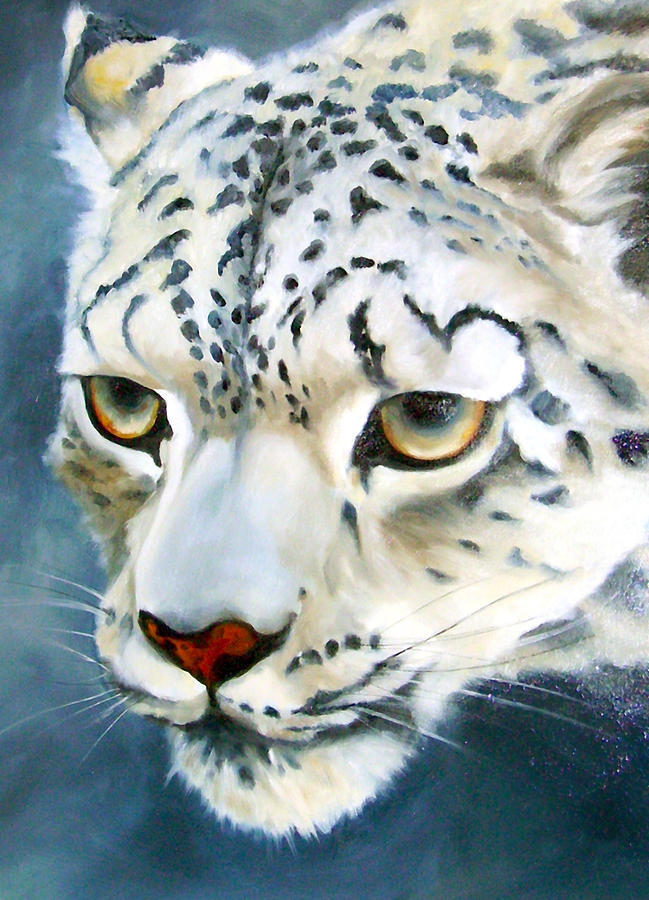 Animal Painting - Snowleopard by Anne Thouthip