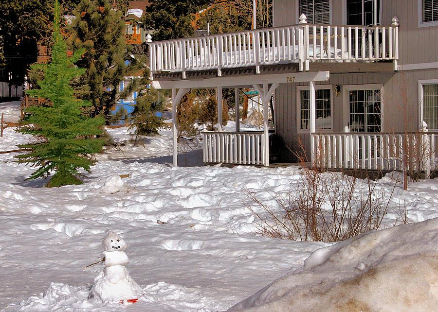Scenic Photograph - Snowman Big Bear California by Bill Mollet