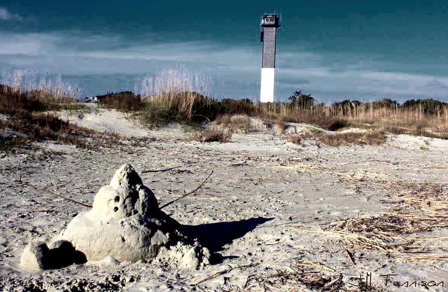 Beach Photograph - Snowman On A Beach Vacation by Jill Tennison