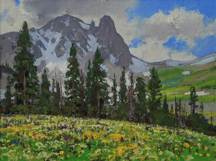 Landscape Painting - Snowmass Wilderness by Lanny Grant