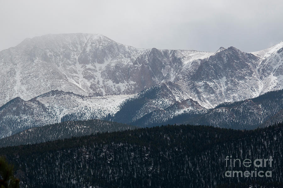 Snowstorm On Pikes Peak Photograph