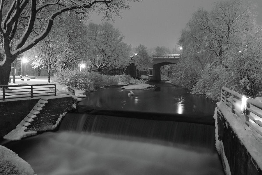 Petoskey Michigan Photograph - Snowy Bear River by Russell Todd