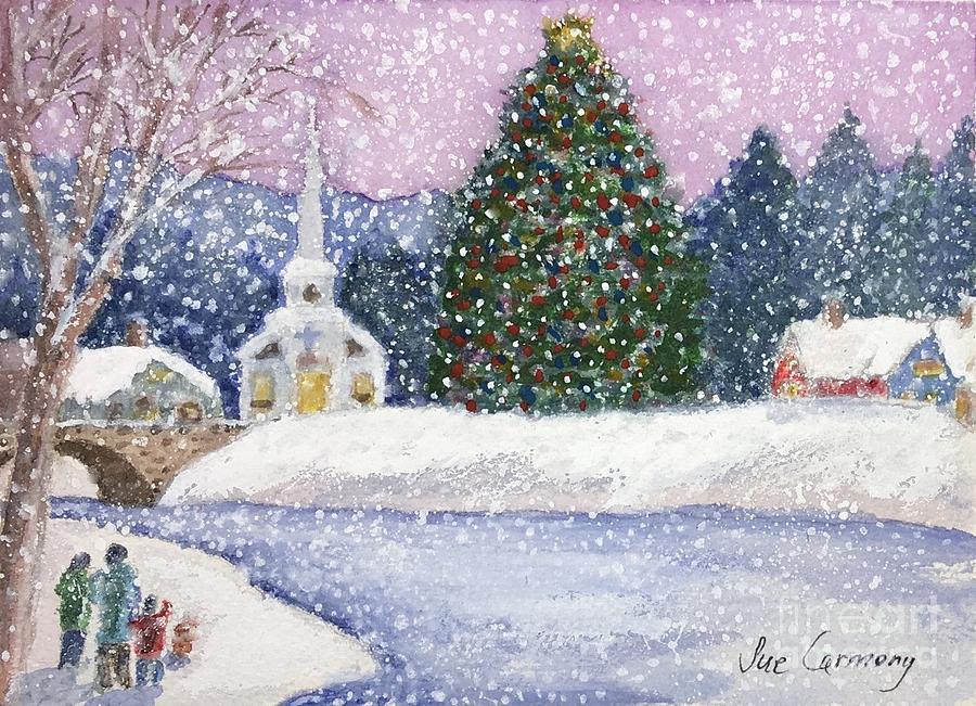 Snowy Christmas.Snowy Christmas Day
