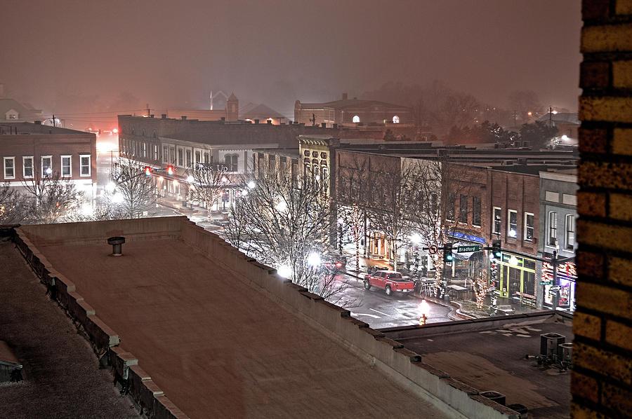 Snowy Christmas Downtown by Jason Bohannon