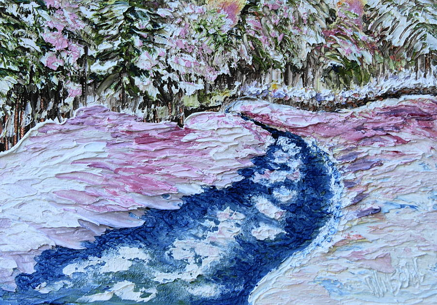 Snow Painting - Snowy Creek by Chrys Wilson