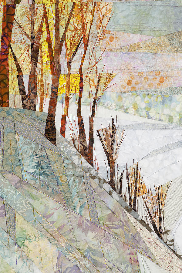 Tree Tapestry - Textile - Snowy Dawn by Linda Beach