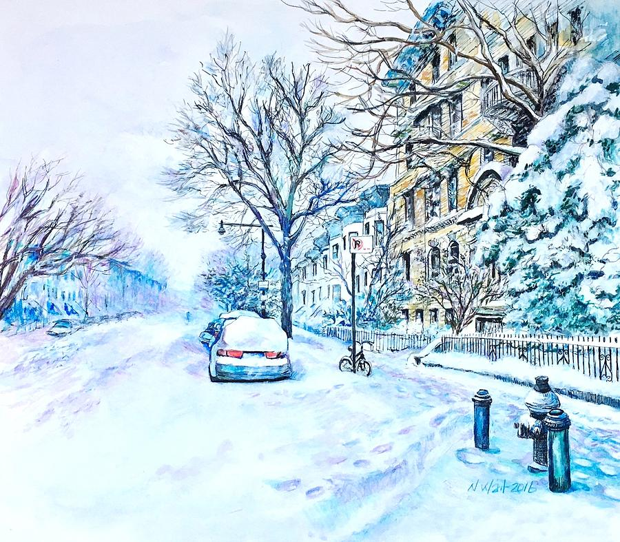 Snowy Day Brooklyn  by Nancy Wait