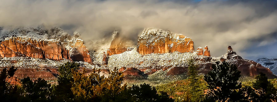 Snowy Day in Sedona by Terry Ann Morris