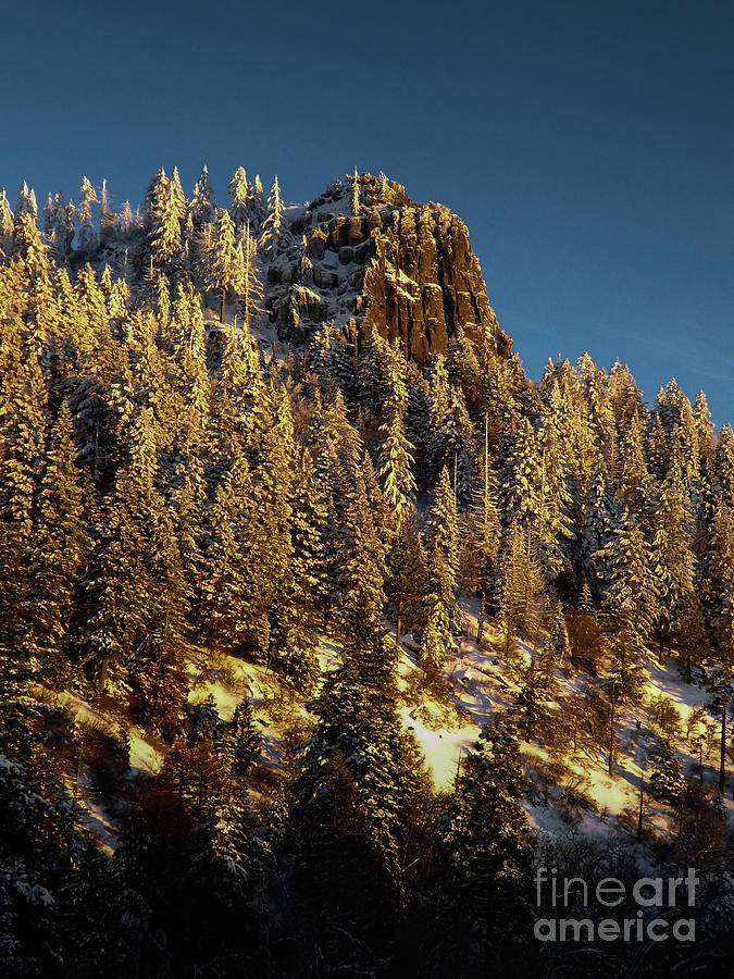 Landscape Photograph - Snowy Hobart Bluff  by Norman Dean