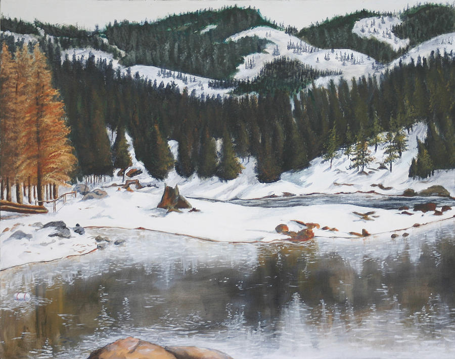 Snow Painting - Snowy Lake by Travis Day